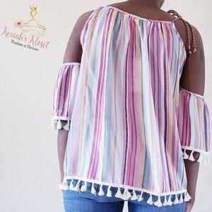 Tops - NEW Multi colored striped top